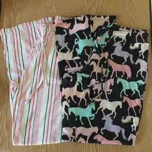 Bundle of 2 Womens PJ/Lounge Pants Horses Small